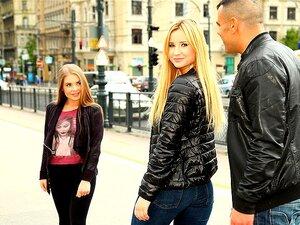 Ariel Rebel und ihr Freund haben einen schönen Dreier mit Alessandra Jane