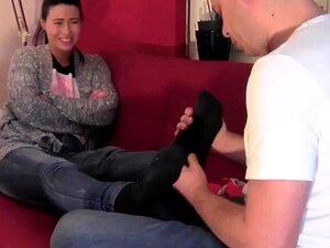 Lesbische Socken Bondage Anbetung