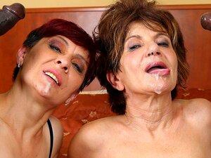Frauen schlucken alte Schlucken