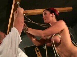 Alyssa Lynn bekommt ihre großen Titten und ihre Muschi vom Meister gefoltert