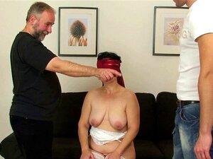 Behaarte Ehefrau Doppelte Penetration