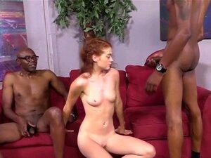 Schwarzes Mädchen Weißer Schwanz Creampie