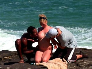 Brasilien Anal Flotter Dreier Strand